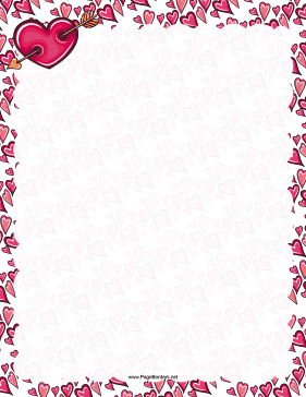 6 Images of Valentine Free Printable Page Borders