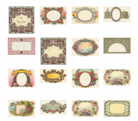 6 Images of Free Vintage Printables Templates