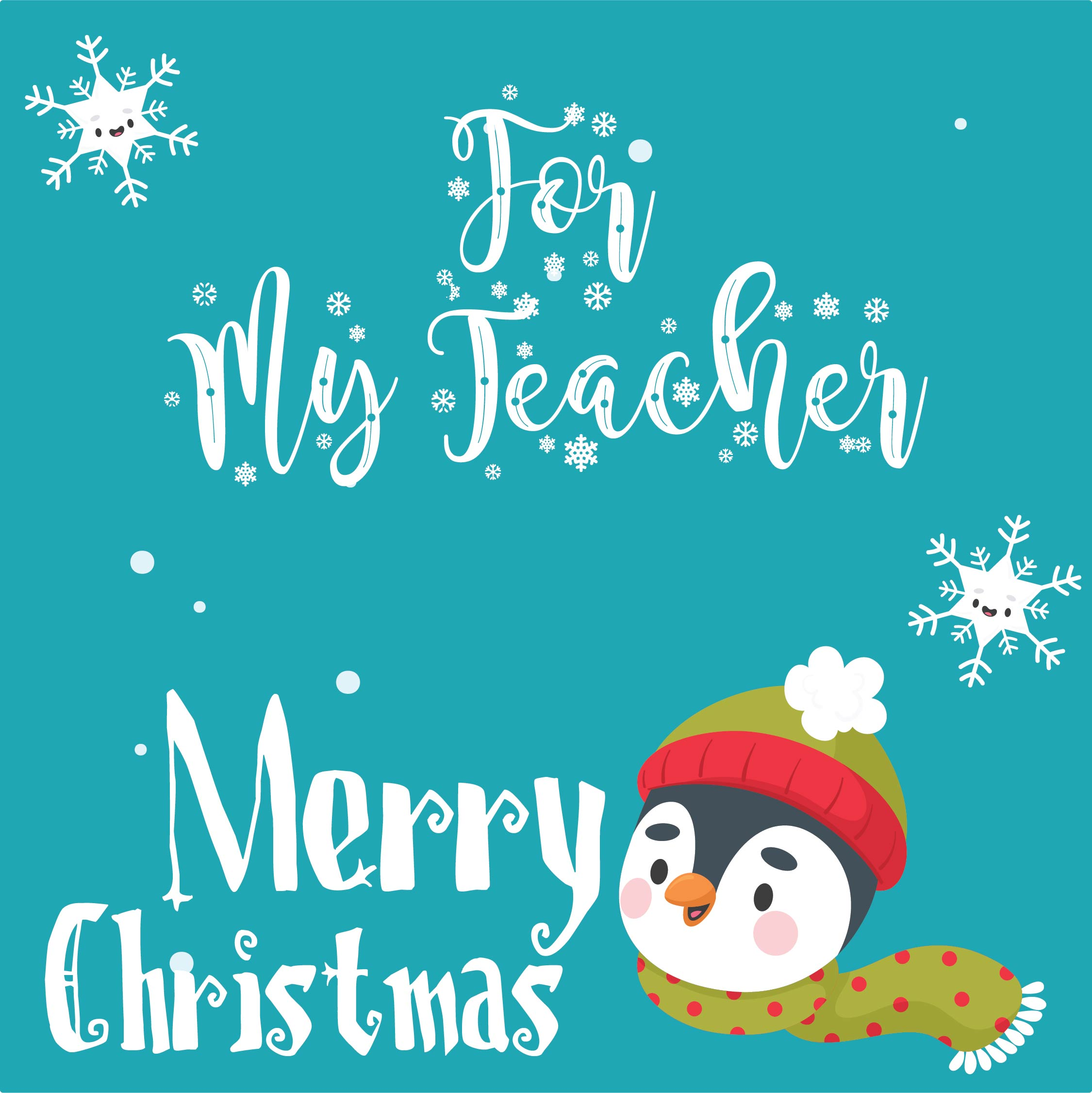 9 Images of Printable Teacher Christmas Cards