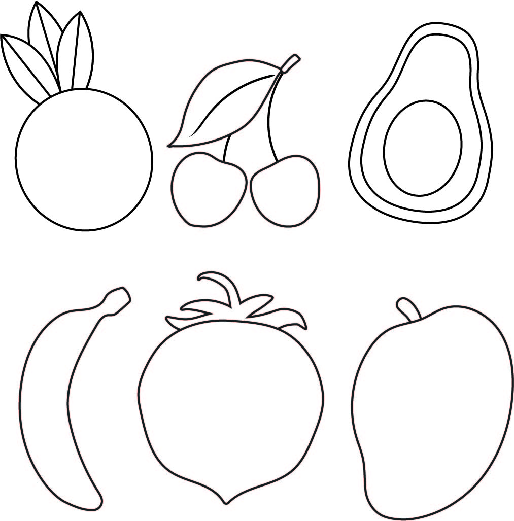 Fruit Template Printable