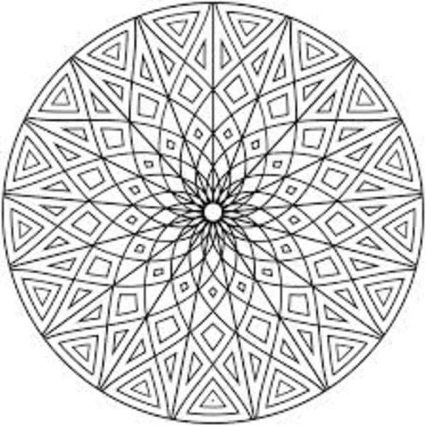 7 Images of Free Printable Geometric Design Coloring Pages