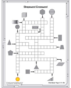 4 Best Images of Geometry Crossword Puzzles Printable - Math ...