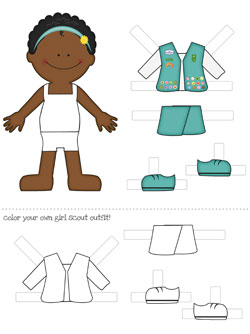6 Images of African American Printable Paper Dolls