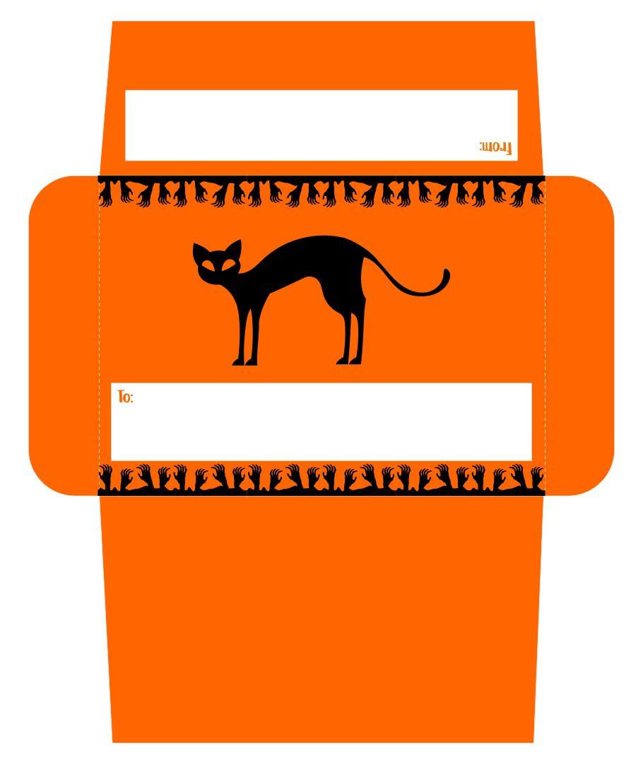 Halloween Envelope Printable Free