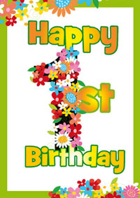 Happy 1st Birthday Card Printable