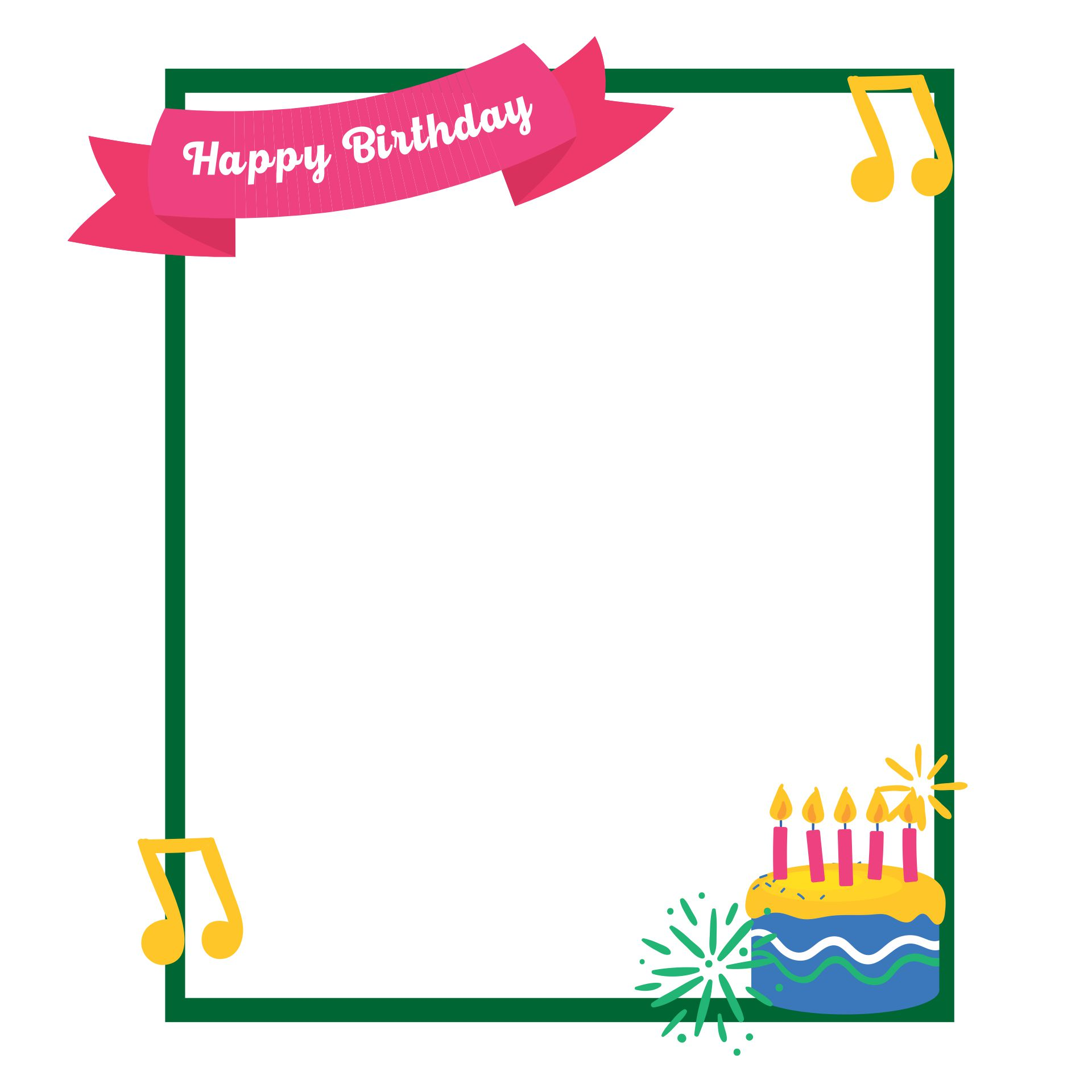 Happy Birthday Border Clip Art Free