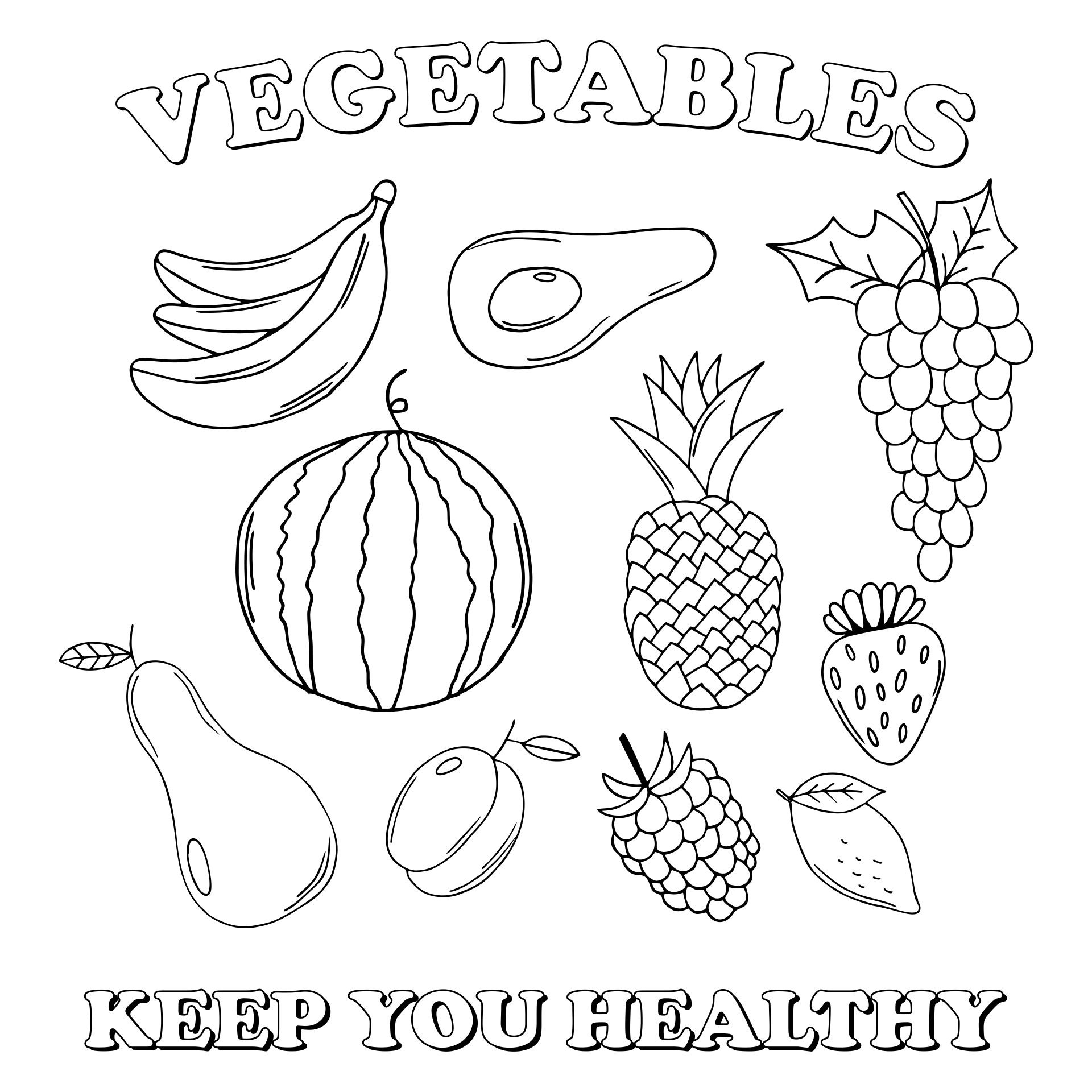 Healthy Eating Coloring Pages Printables