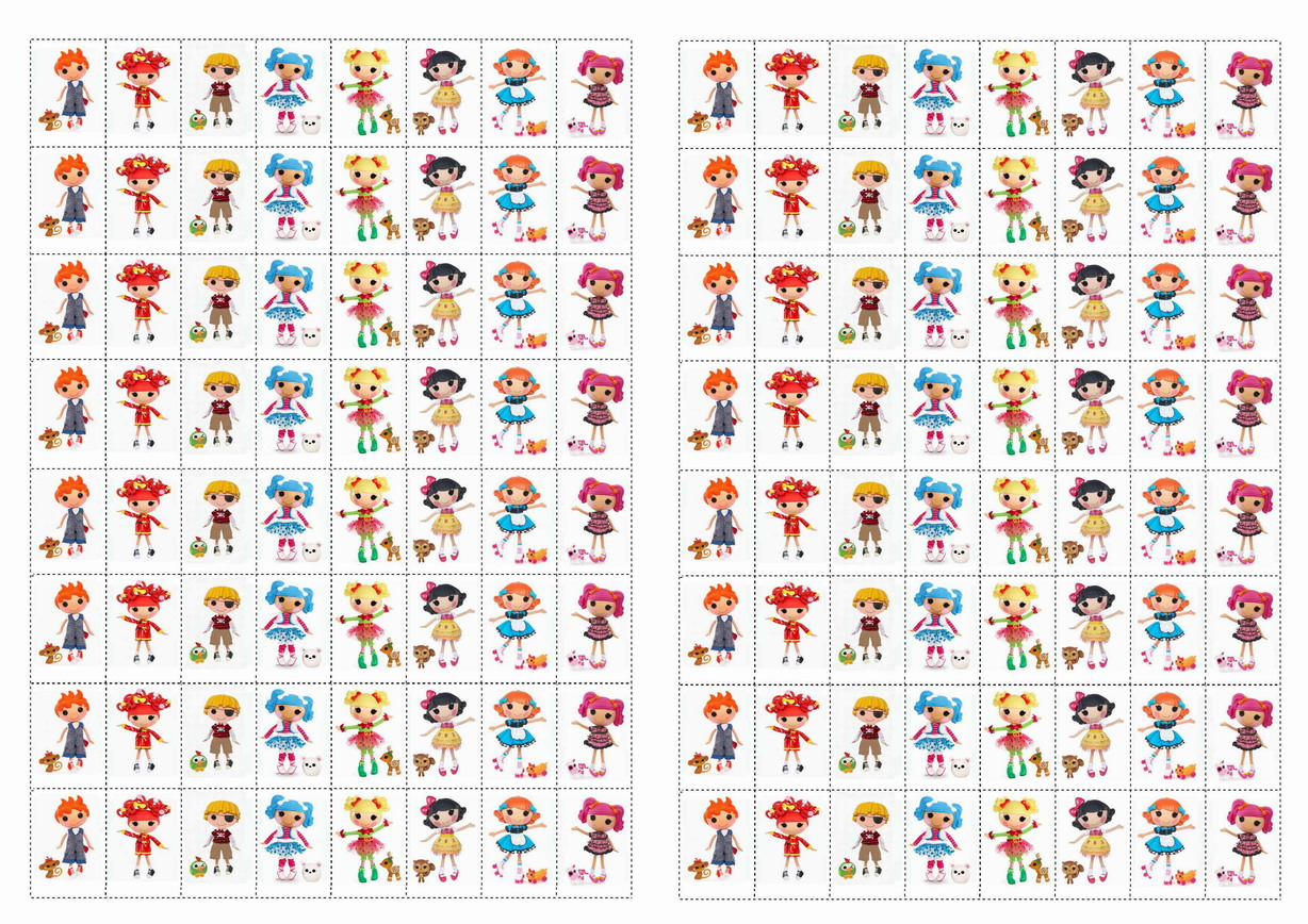 Lalaloopsy Printable Stickers
