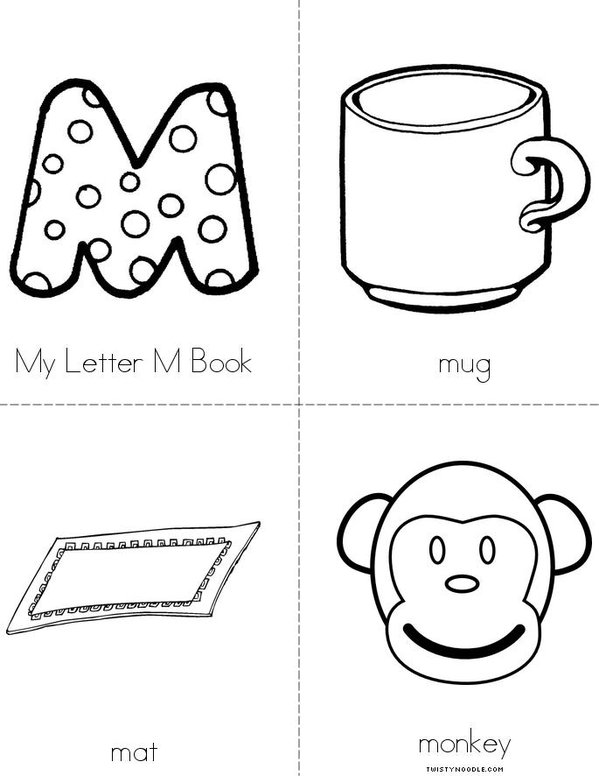 5 Images of Letter M Book Printable