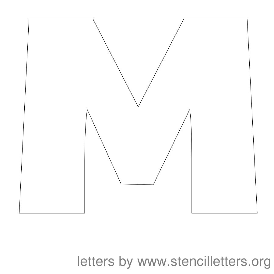 7 Images of Letter M Template Printable