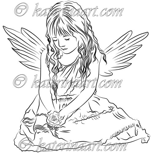 7 Best Images of Angels To Color Printable  Free Printable Angel