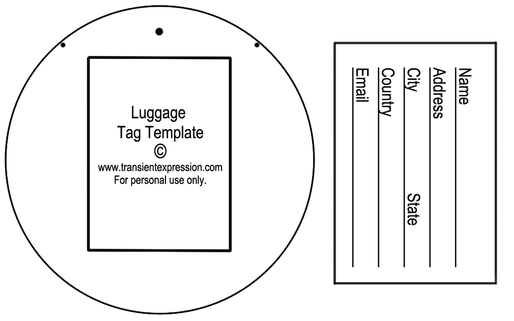 4 Images of Luggage Tag Template Printable