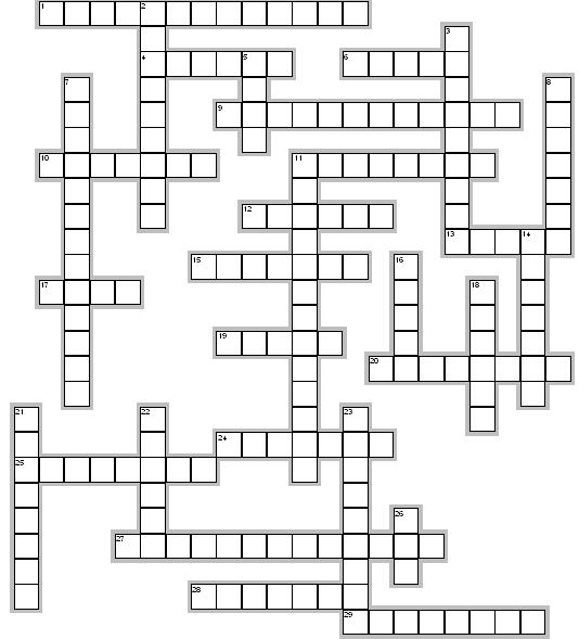 4 Images of Geometry Crossword Puzzles Printable