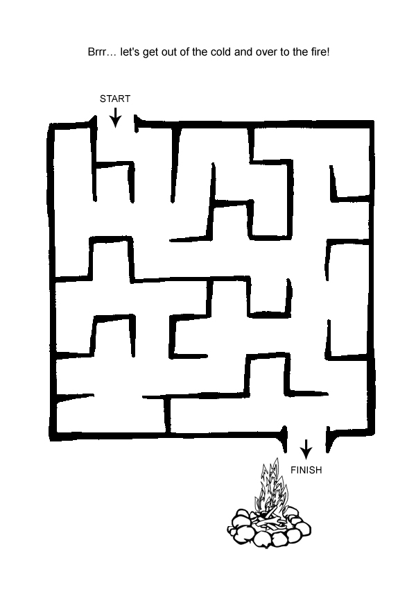 6 Images of Easy Printable Mazes For Preschoolers