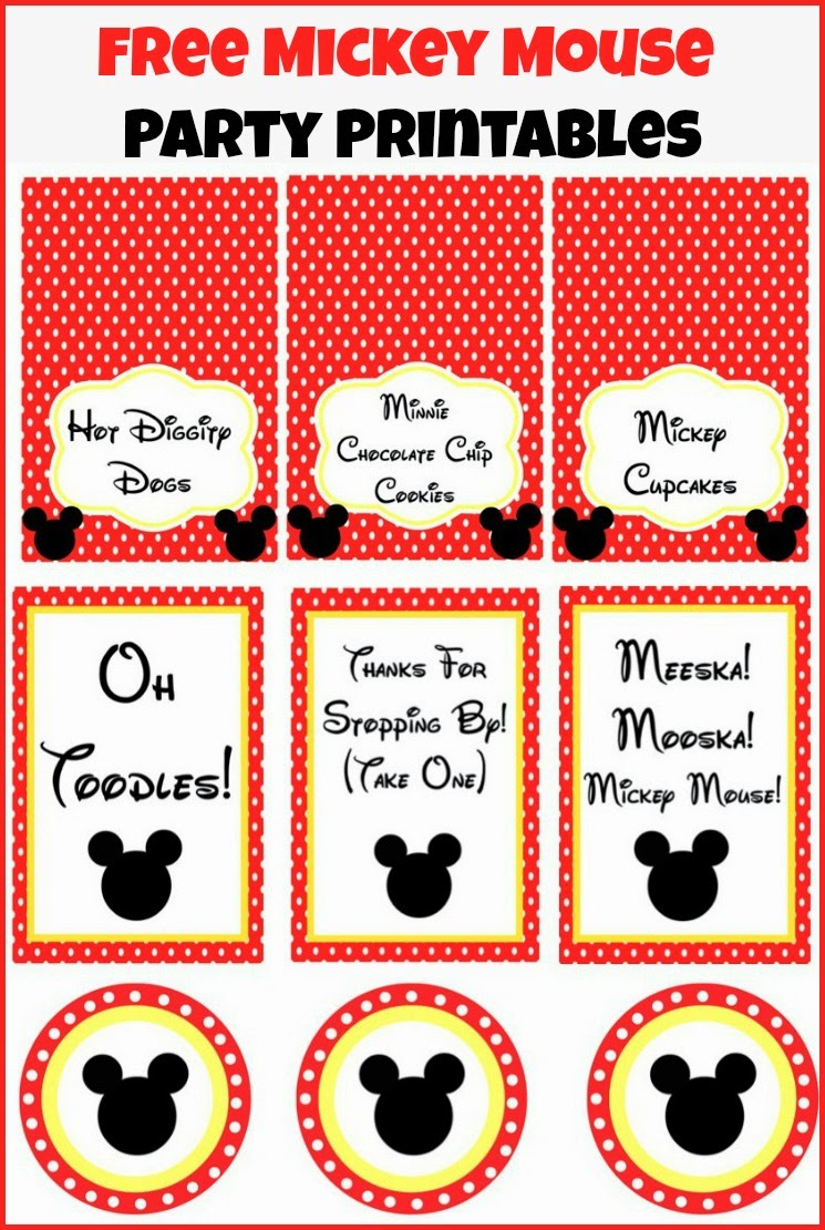 5 Images of Mickey Mouse Clubhouse Party Printables