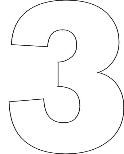 Number Names Worksheets number 1 template printable : 7 Best Images of Free Printable Number Templates - Number 3 ...