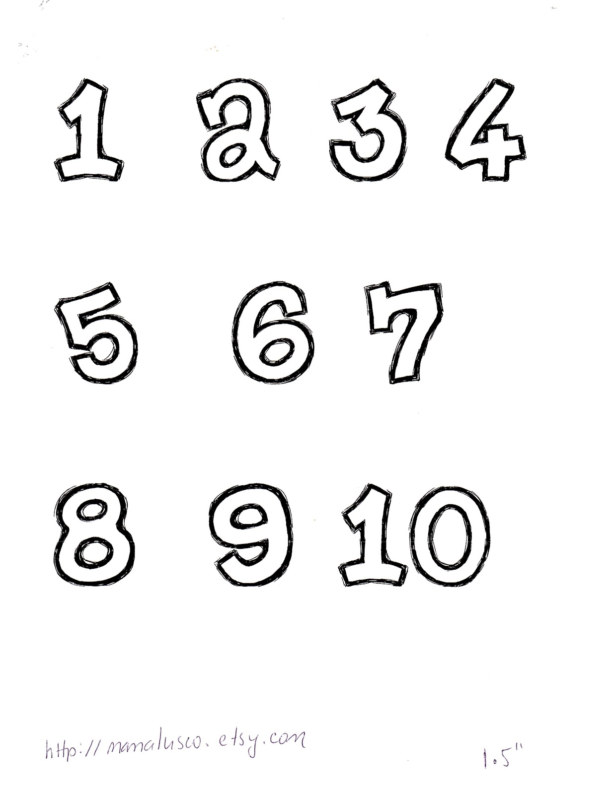 7 best images of free printable number templates number for Free number templates to print