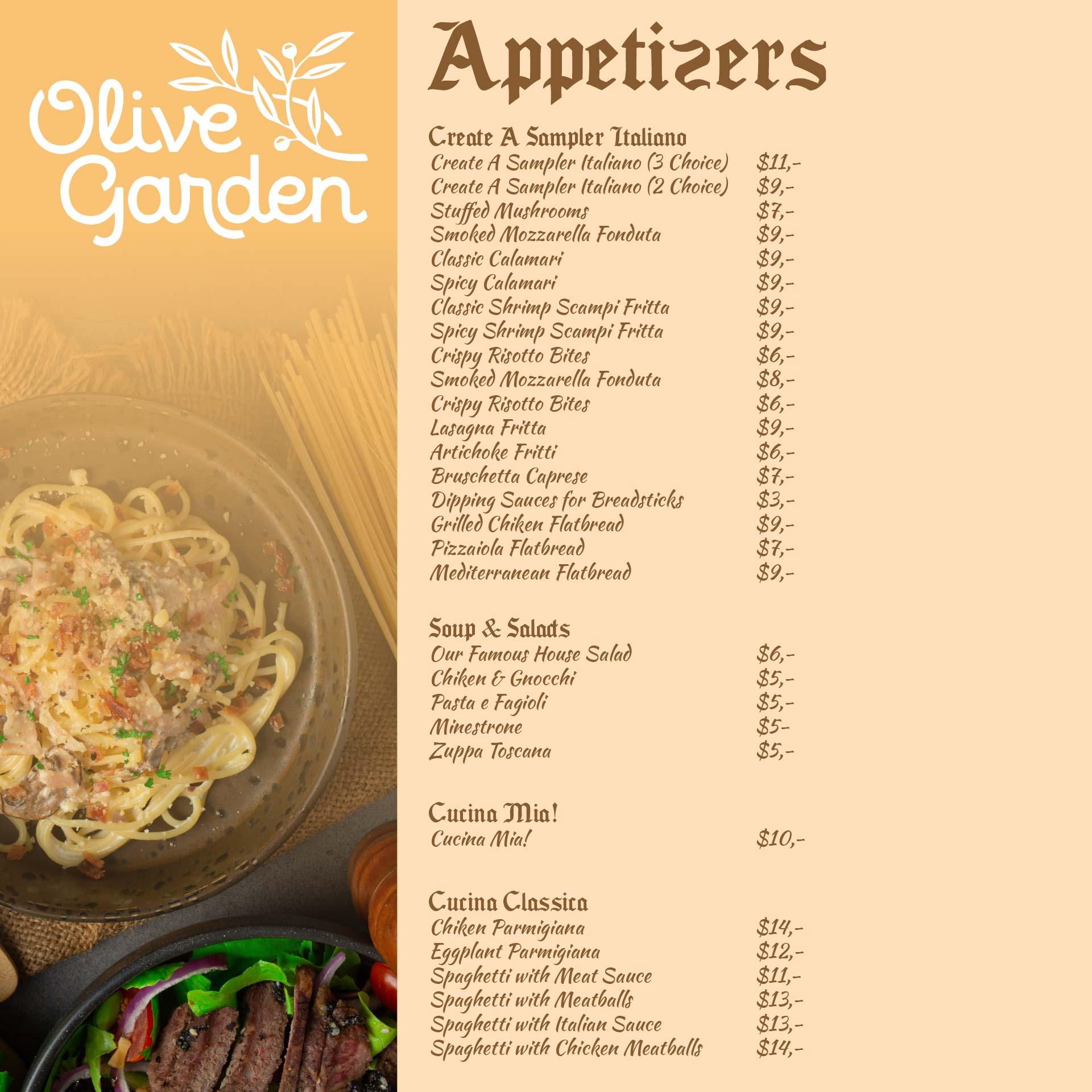 7 Best Olive Garden Menu Printable Out Printablee Com