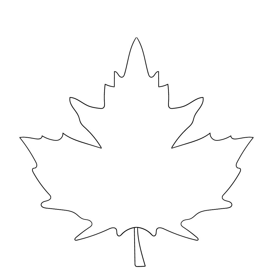 Outline Maple Leaf Garland