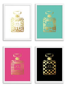 4 Images of Gold Perfume Free Printable
