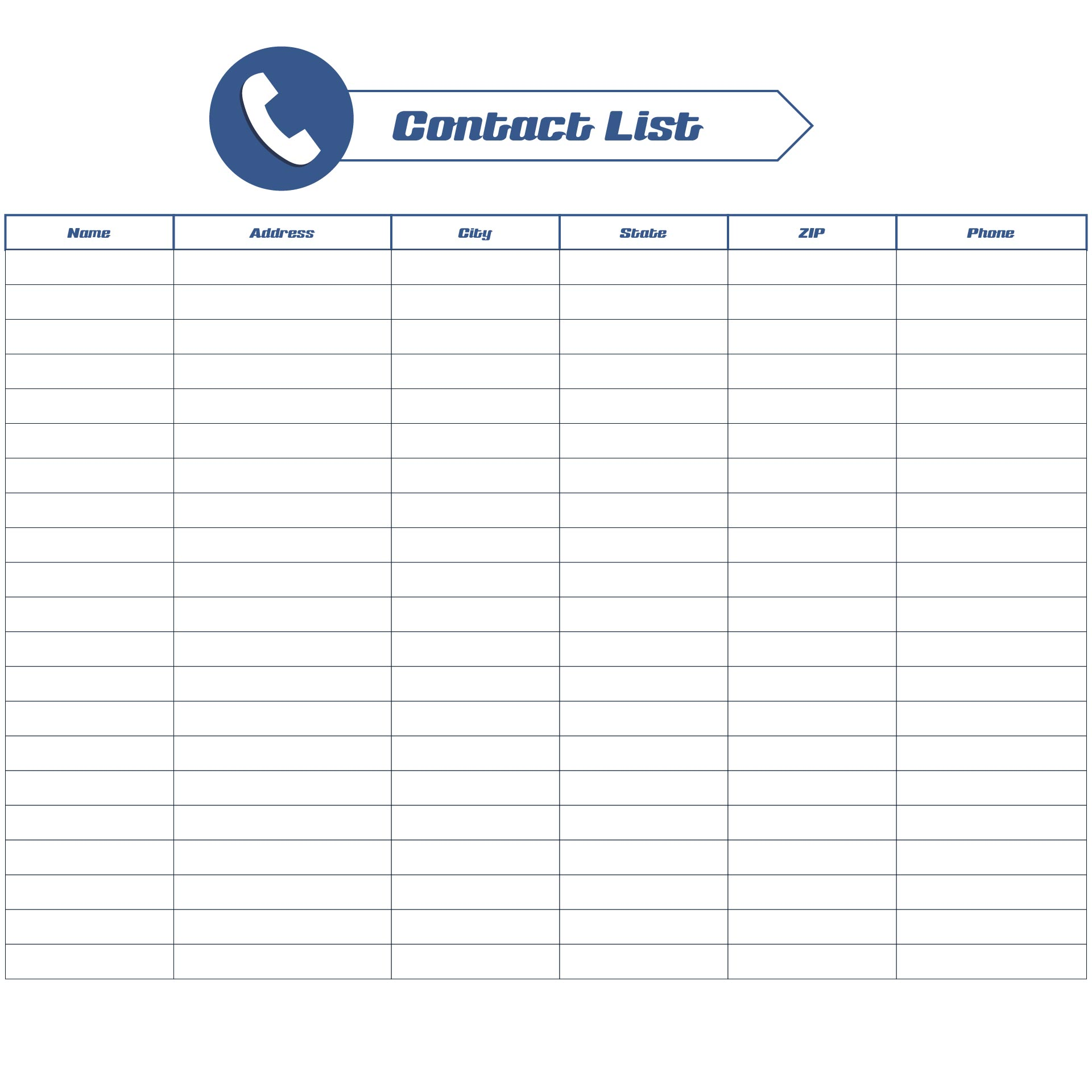 Phone Directory Templates Free