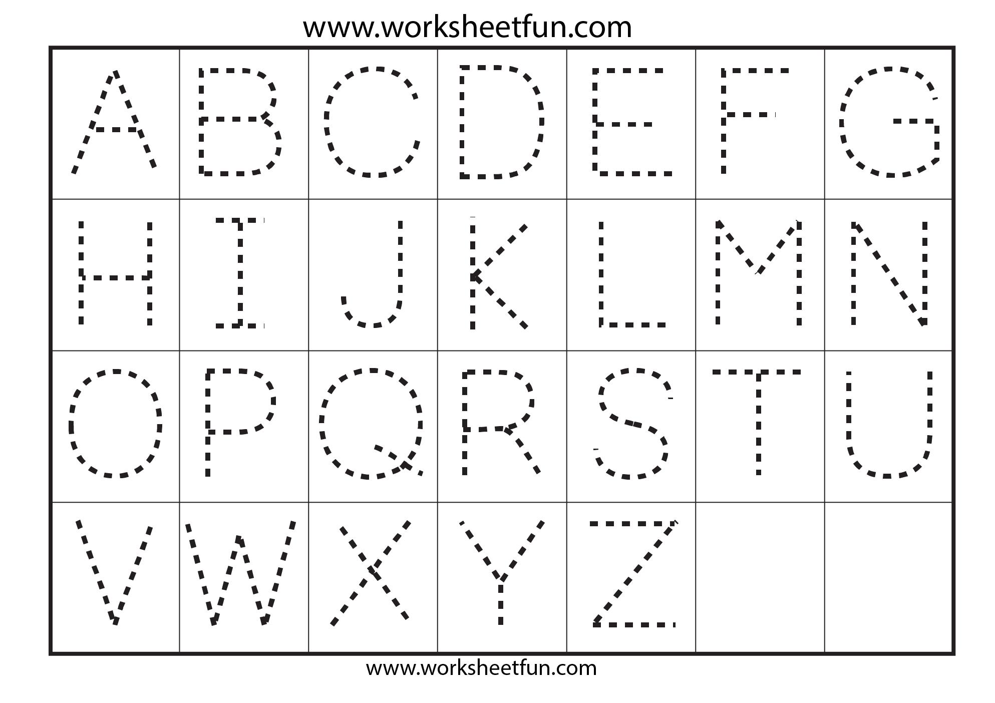 Worksheet Preschool Alphabet Worksheets A-z 6 best images of preschool printables letters a z printable worksheets alphabet tracing letter a