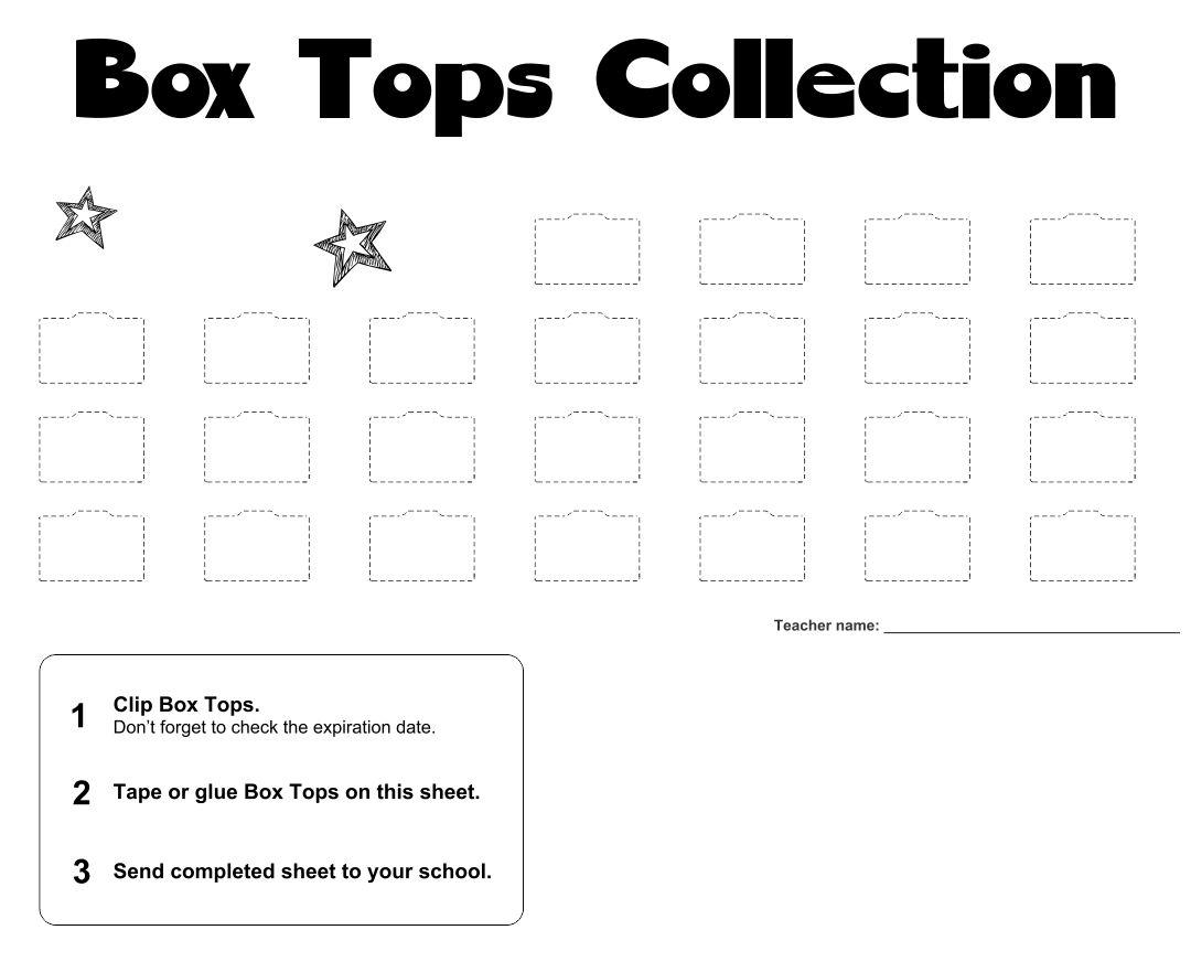 Print Box Tops Collection Sheets