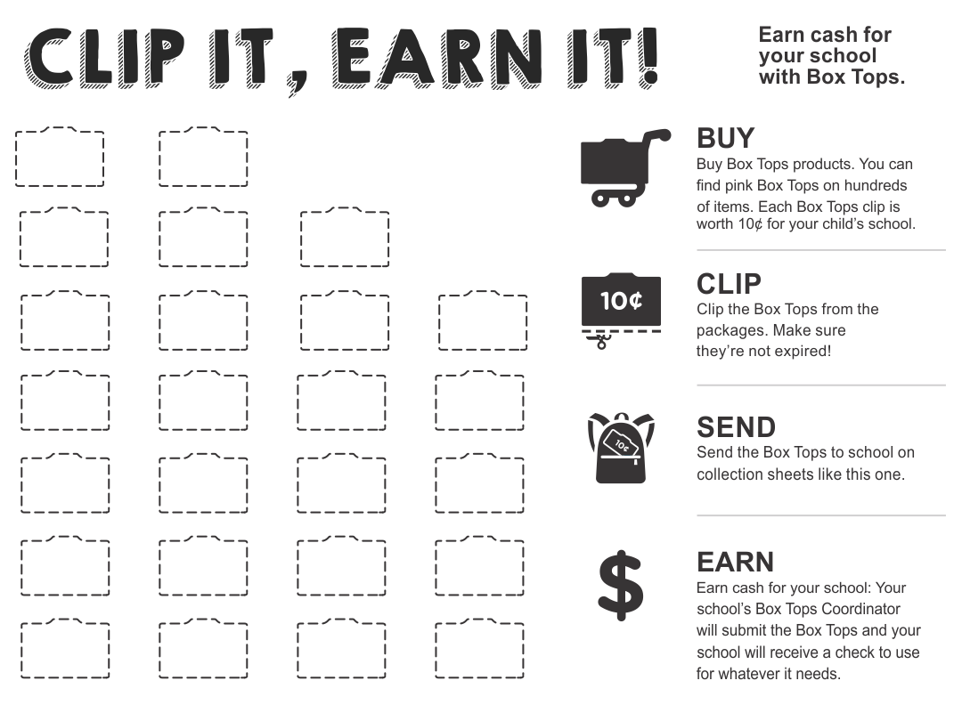 Print Box Tops Collection Sheets