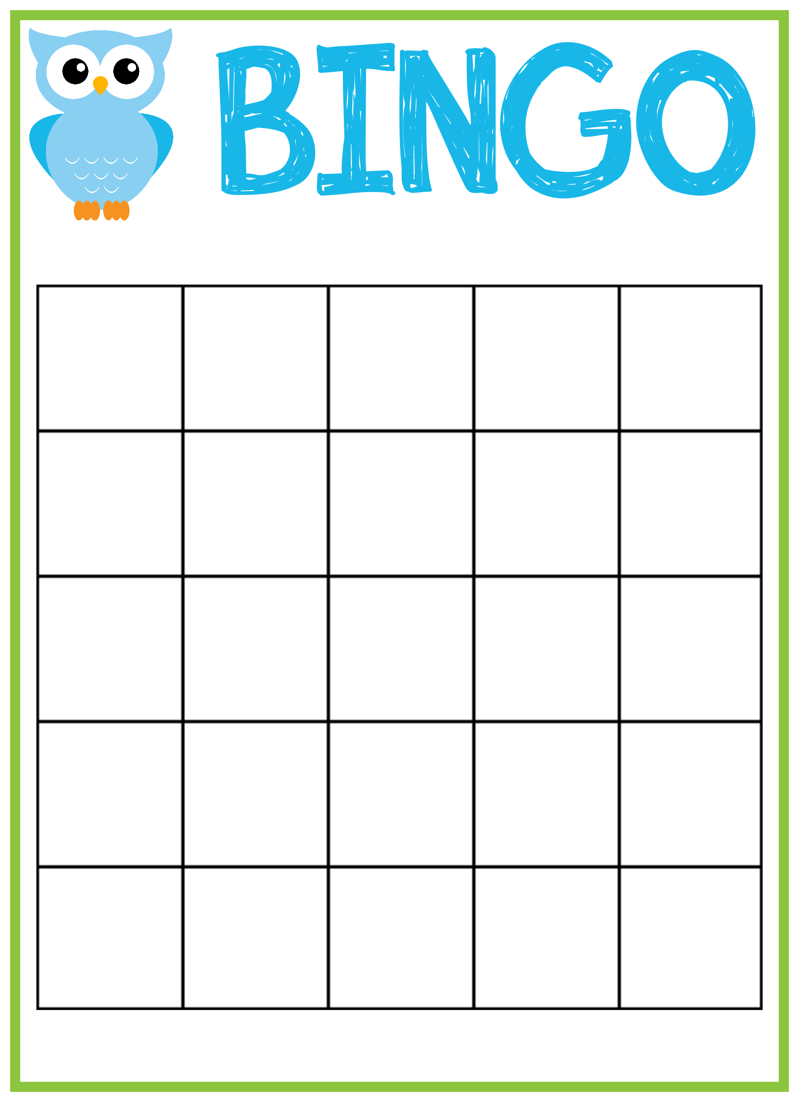 8 Images of Baby Bingo Template Printable