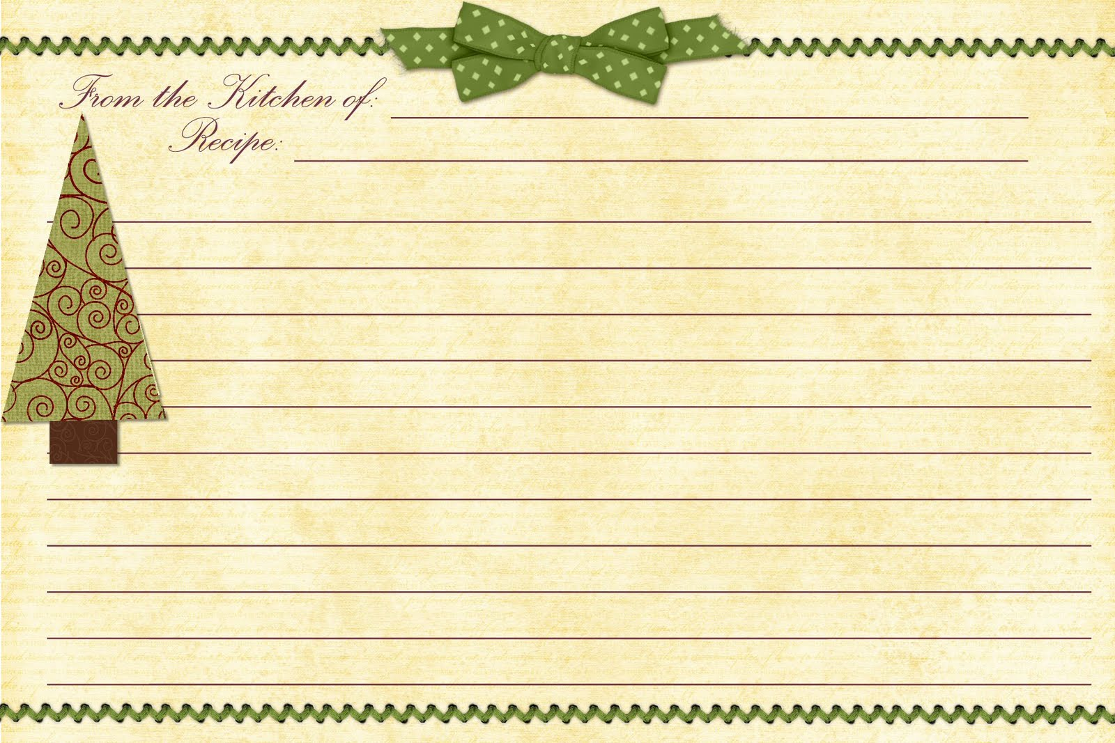9 Images of Printable Templates Christmas Recipe