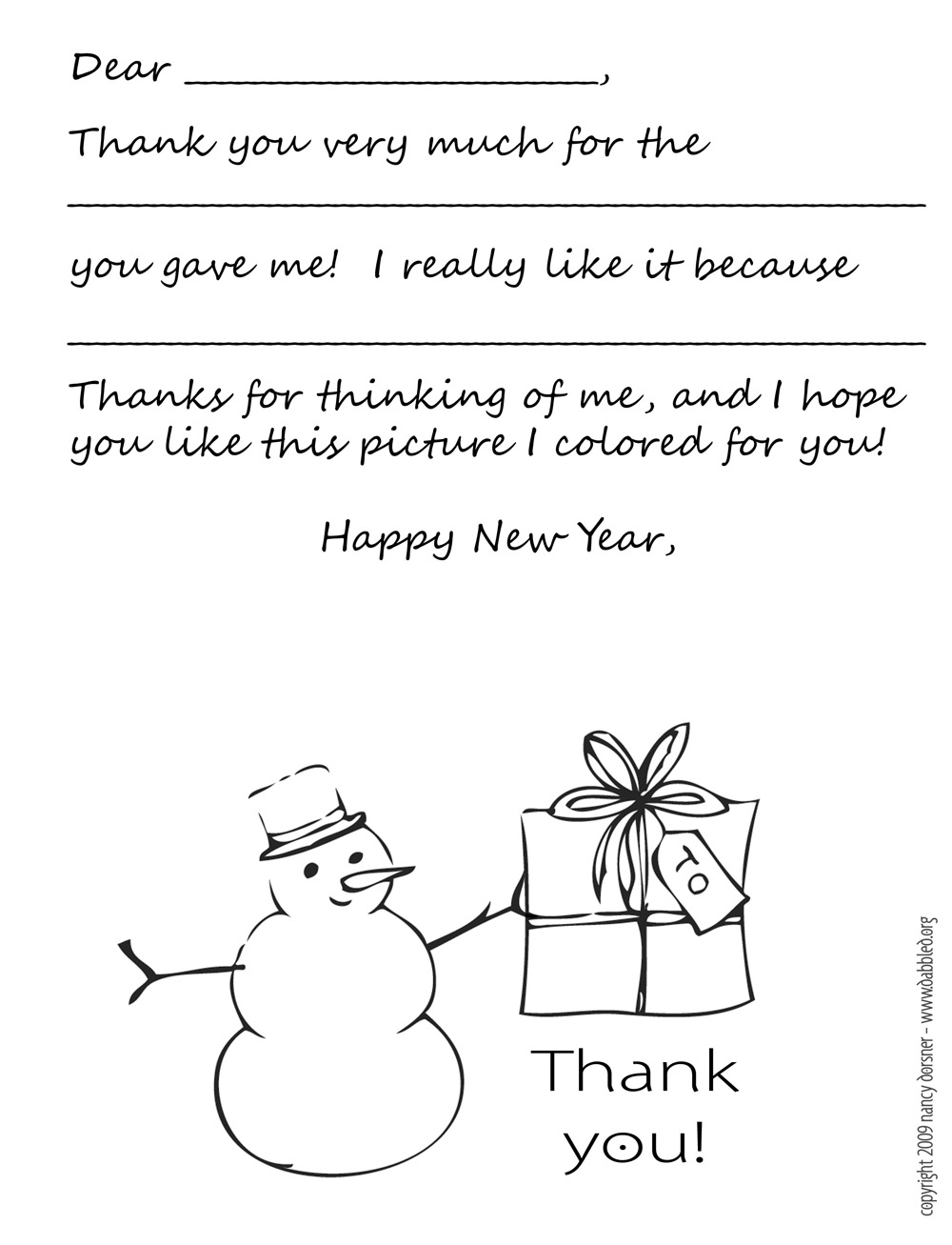 6 Images of Thank You Note Printable Template