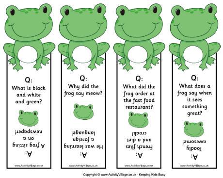 Printable Frog Bookmarks