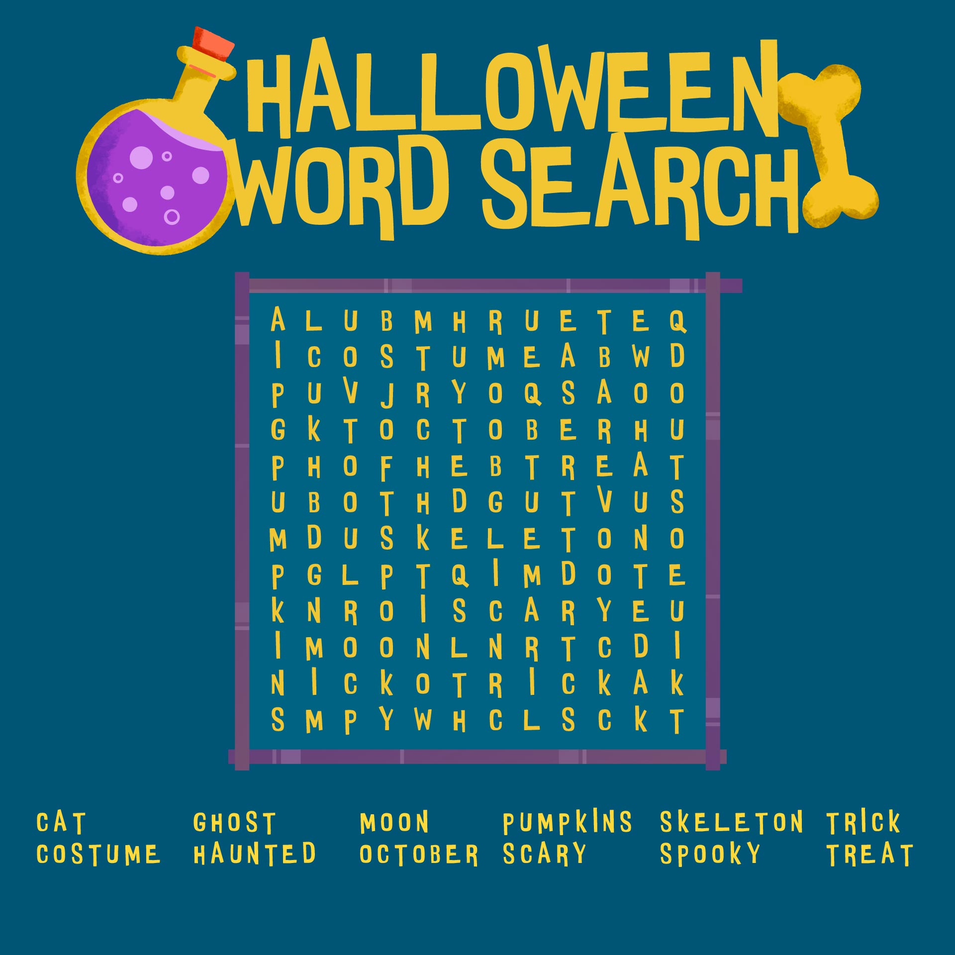 4 Images of Kids Halloween Word Searches Printable