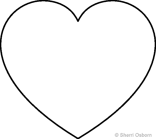 4 Images of Heart Cutouts Printable