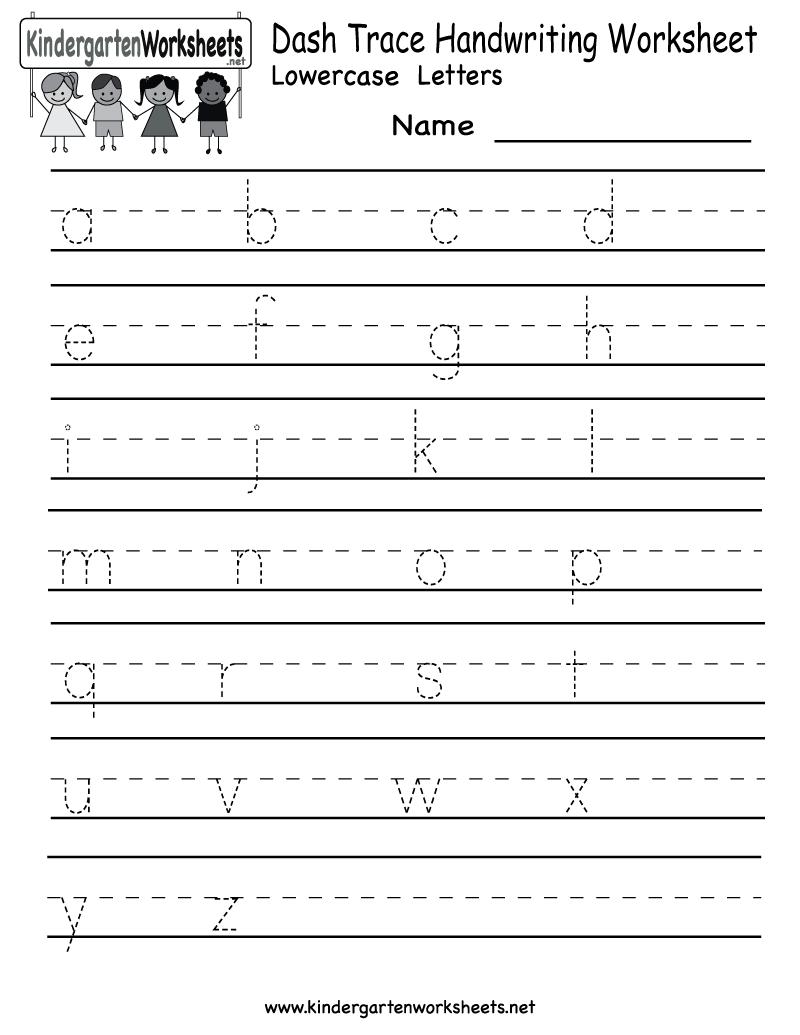 5 Images of Writing Printable Kindergarten Worksheets