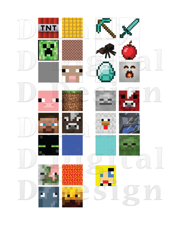 5 Images of Free Printable Minecraft Stickers
