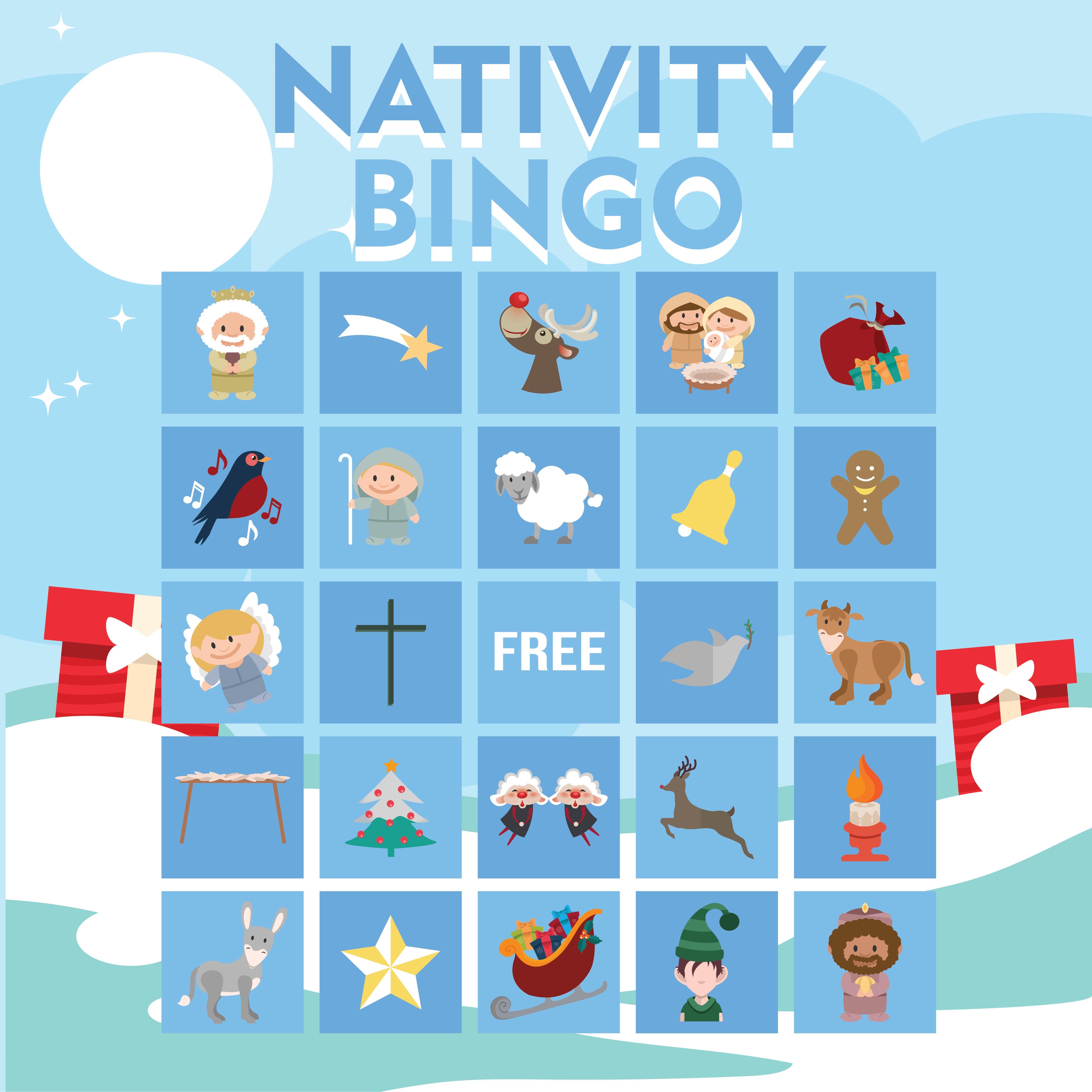 Printable Nativity Bingo Cards