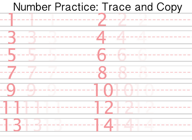 Number Names Worksheets number printing practice : Practice Writing Numbers Worksheets 1 20 - Intrepidpath