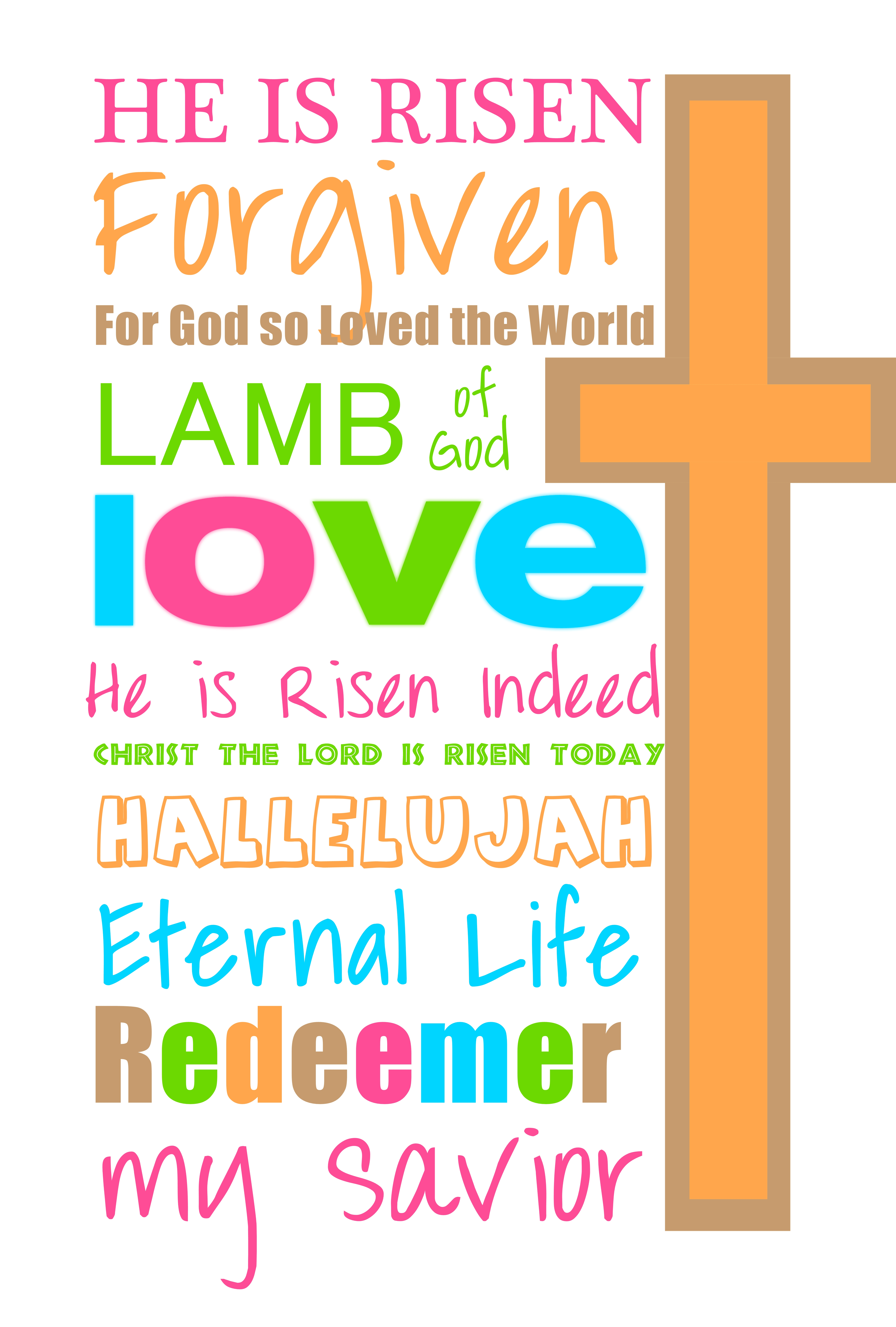 7 Images of Printable Happy Easter Clip Art
