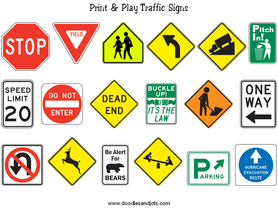 5 Images of Traffic Sign Printables For Preschoolers