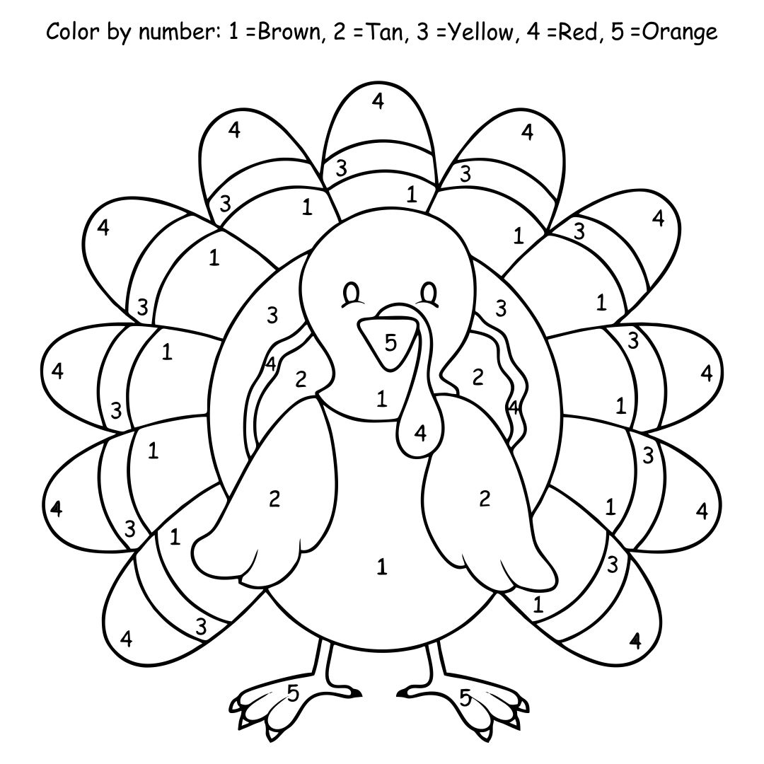 5 Best Thanksgiving Turkey Coloring Pages Printables ...