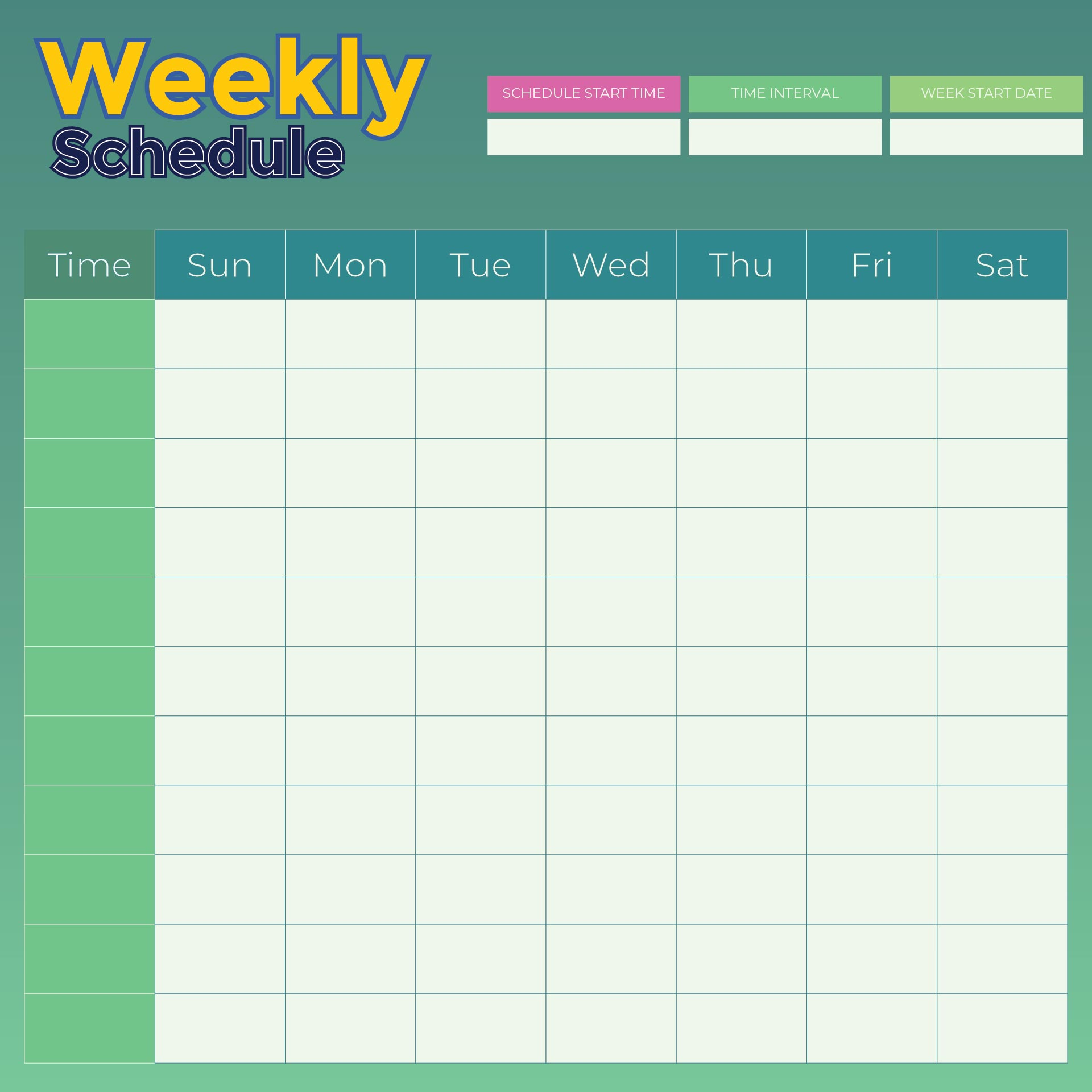9 best images of weekly planner printable pdf weekly for Free planner templates
