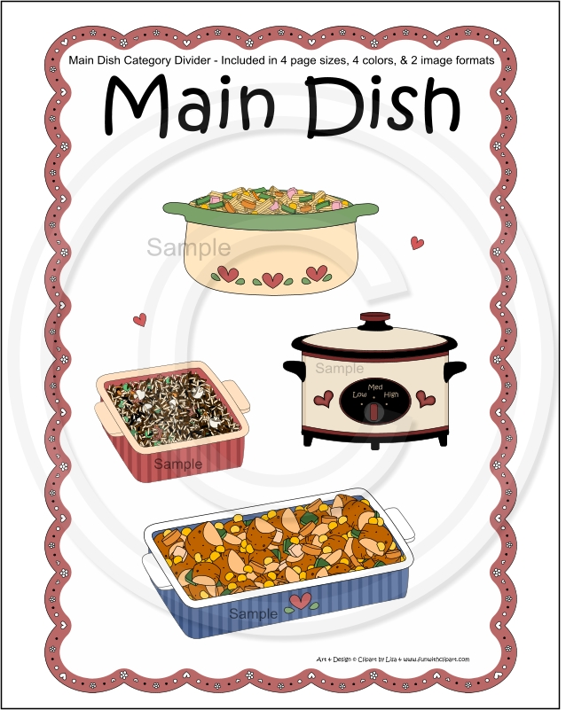 Free Cookbook Cover Clipart : Best images of printable cookbook divider pages free