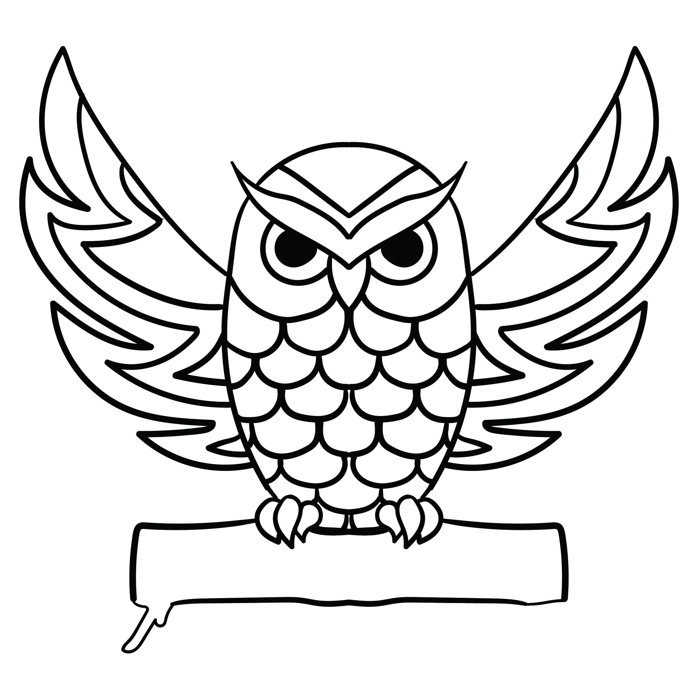 Scary Owl Pumpkin Carving Patterns Printables