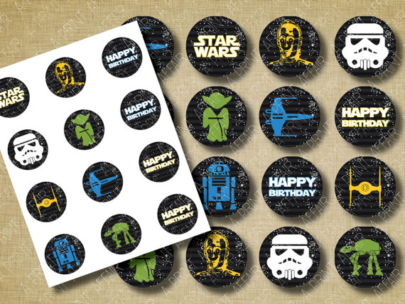 Printable Space Cake Toppers
