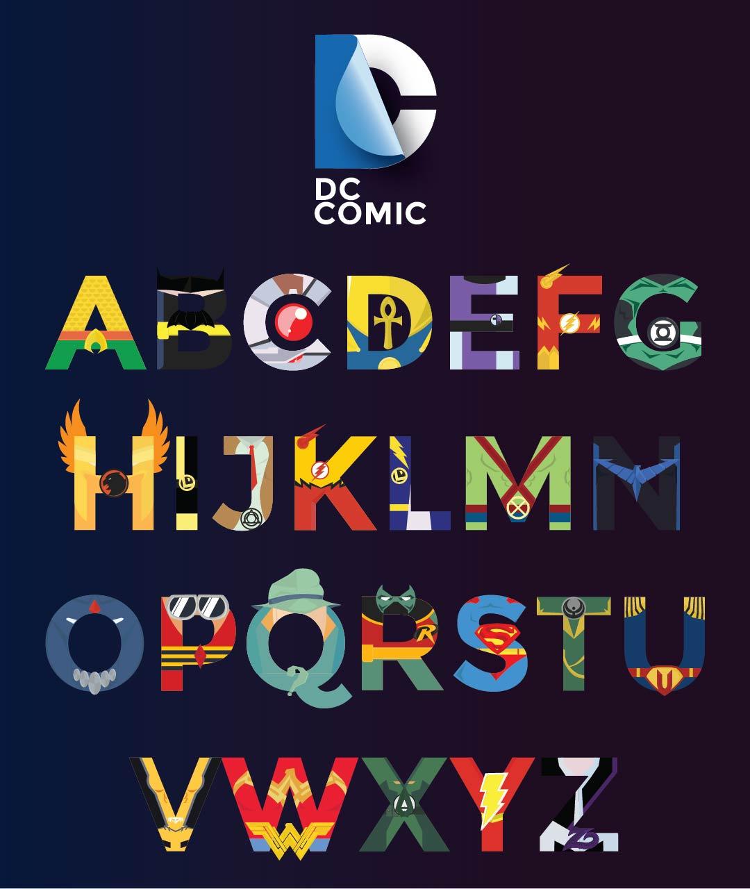 Superhero Alphabet Font