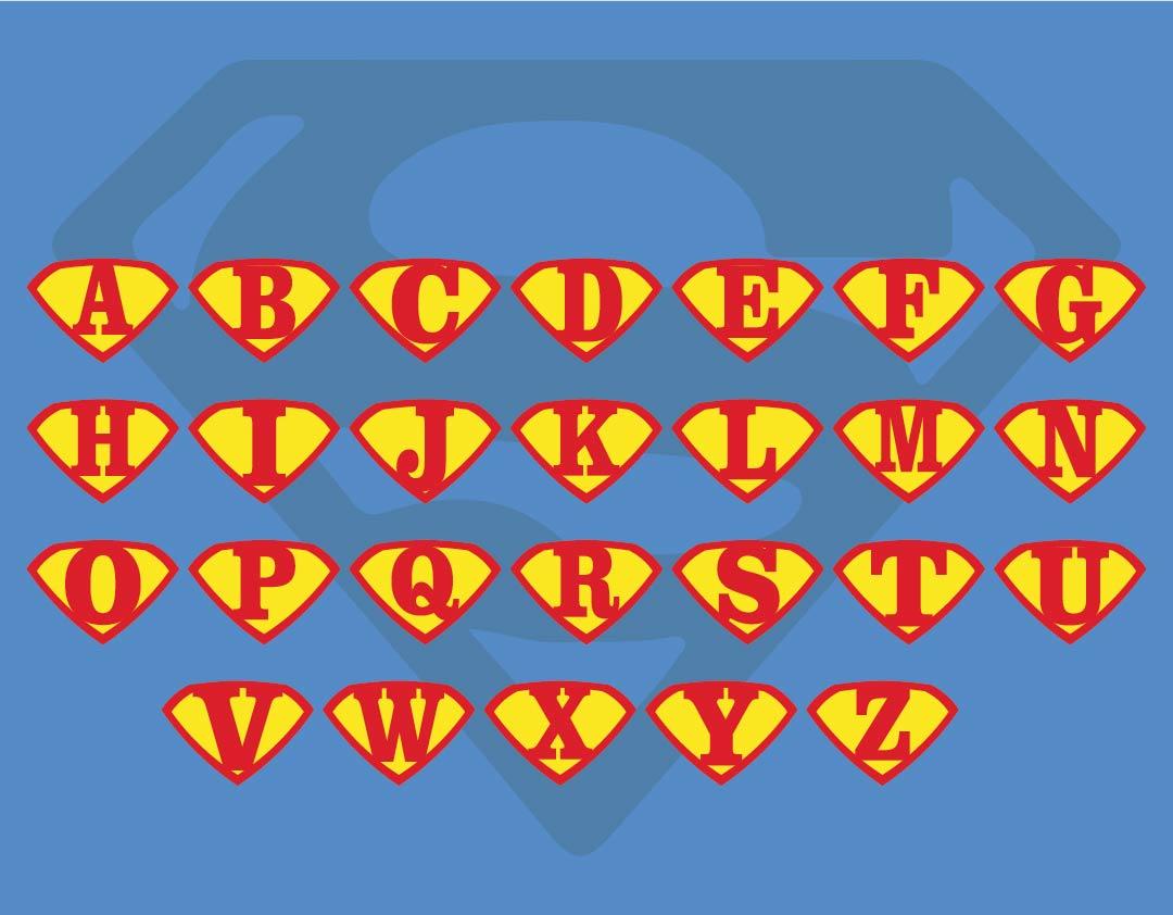 Superman Letters Printables
