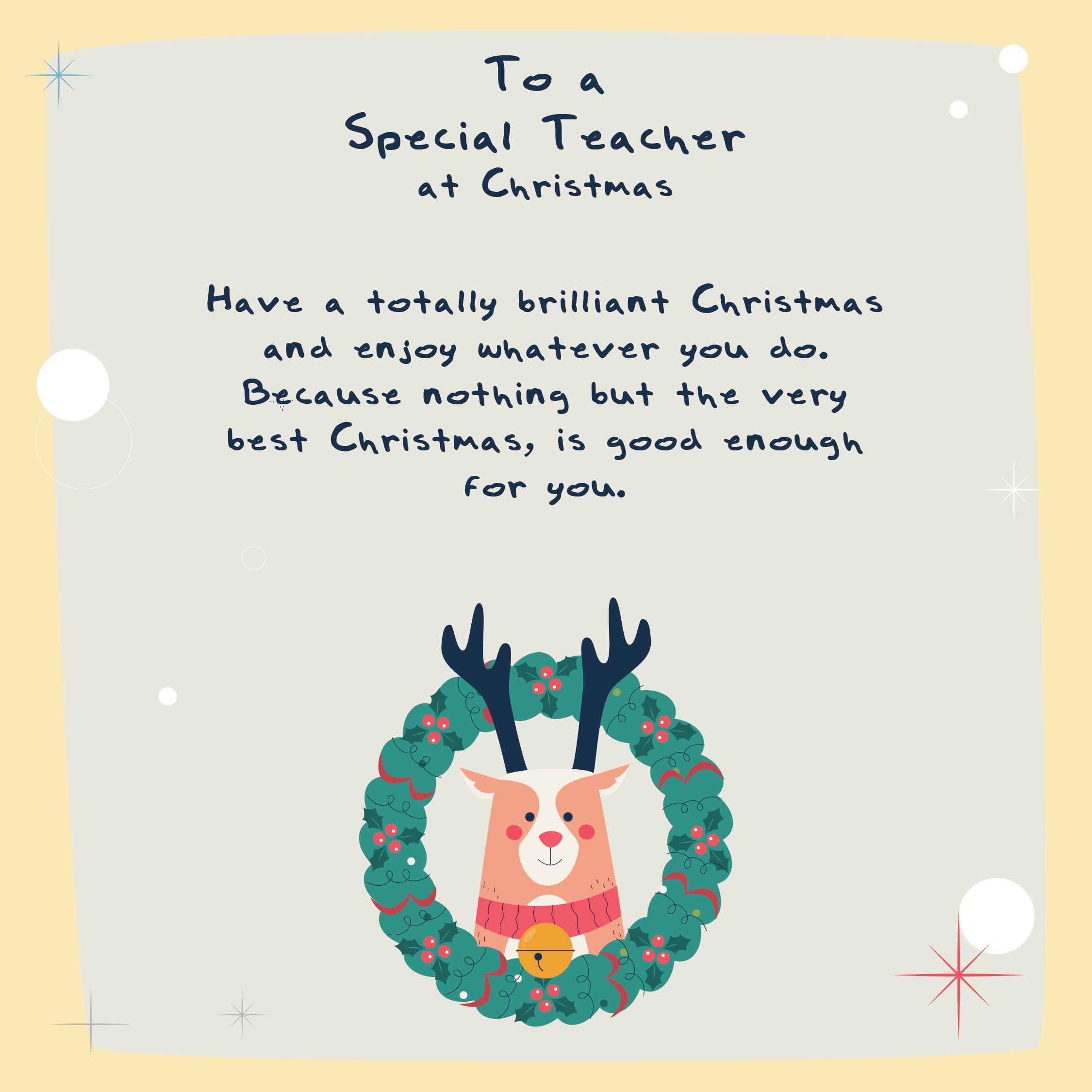 Teacher Christmas Card Messages