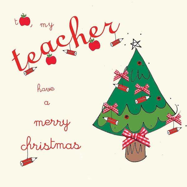 Teacher Christmas Card Sayings