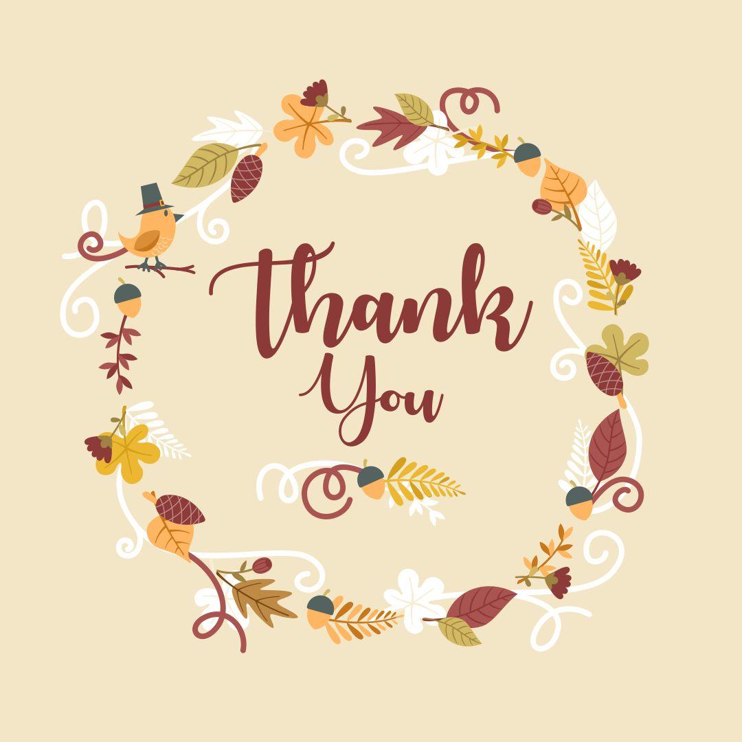 Thanksgiving Thank You Cards Printable
